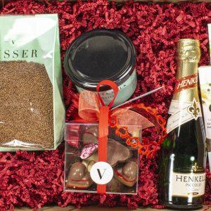 Valentijn ontbijt box chocolade
